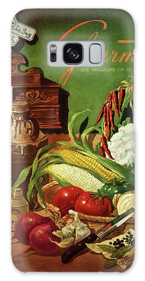 Food Galaxy S8 Case featuring the photograph Gourmet Cover Featuring A Variety Of Vegetables by Henry Stahlhut