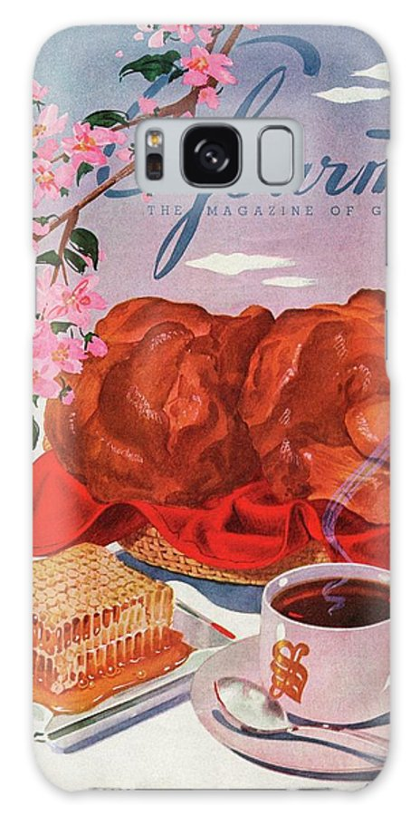 Food Galaxy S8 Case featuring the photograph Gourmet Cover Illustration Of A Basket Of Popovers by Henry Stahlhut