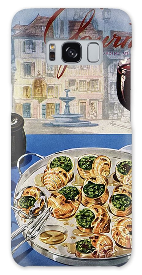 Food Galaxy S8 Case featuring the photograph Gourmet Cover Illustration Of A Platter by Henry Stahlhut
