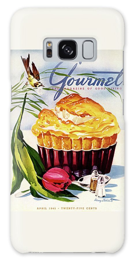 Illustration Galaxy S8 Case featuring the photograph Gourmet Cover Illustration Of A Souffle And Tulip by Henry Stahlhut