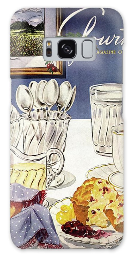 Food Galaxy S8 Case featuring the photograph Gourmet Cover Illustration Of Cranberry Muffins by Henry Stahlhut