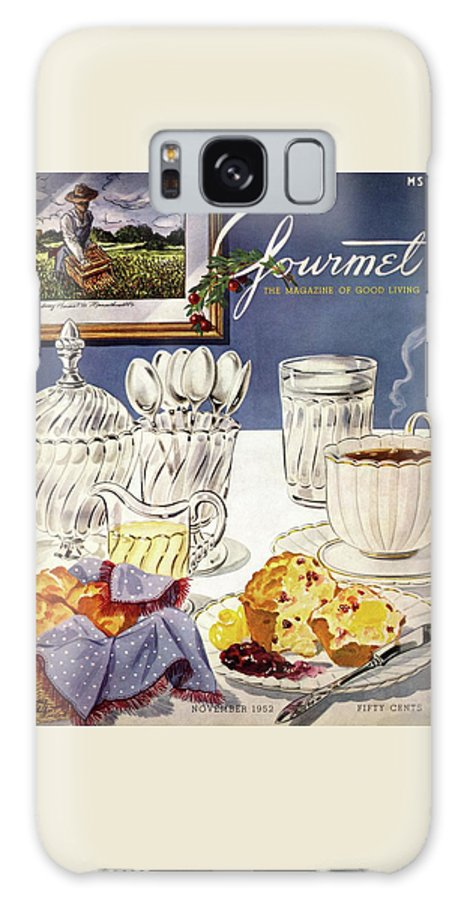 Food Galaxy Case featuring the photograph Gourmet Cover Illustration Of Cranberry Muffins by Henry Stahlhut