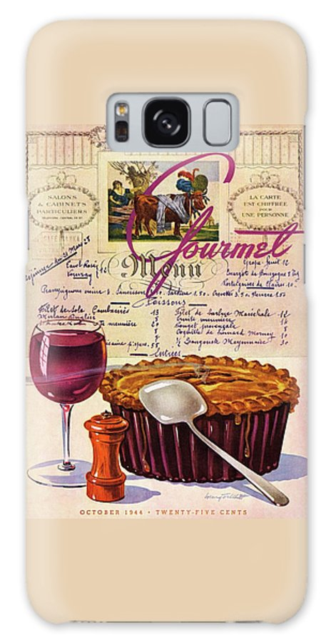 Food Galaxy Case featuring the photograph Gourmet Cover Illustration Of Deep Dish Pie by Henry Stahlhut