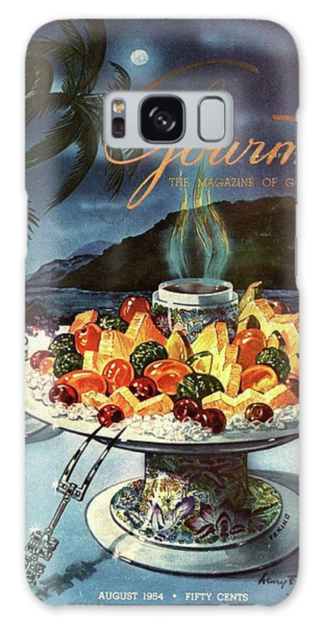 Food Galaxy S8 Case featuring the photograph Gourmet Cover Illustration Of Fruit Dish by Henry Stahlhut