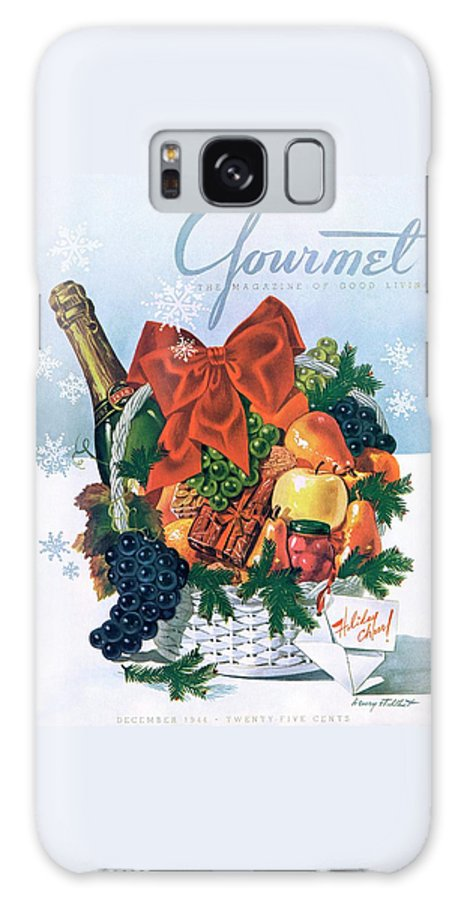 Food Galaxy S8 Case featuring the photograph Gourmet Cover Illustration Of Holiday Fruit Basket by Henry Stahlhut