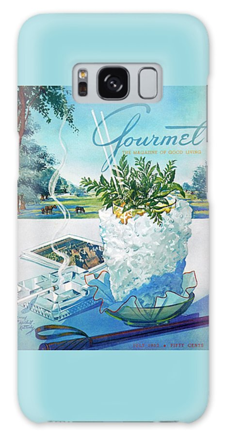 Food Galaxy S8 Case featuring the photograph Gourmet Cover Illustration Of Mint Julep Packed by Henry Stahlhut