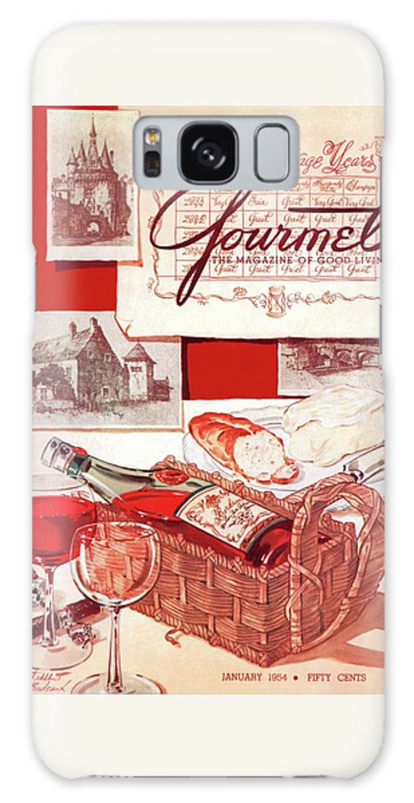 Food Galaxy Case featuring the painting Gourmet Cover Of A Bottle Of Bordeaux by Henry Stahlhut