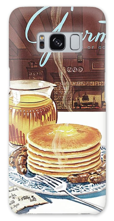 Food Galaxy S8 Case featuring the photograph Gourmet Cover Of Pancakes by Henry Stahlhut