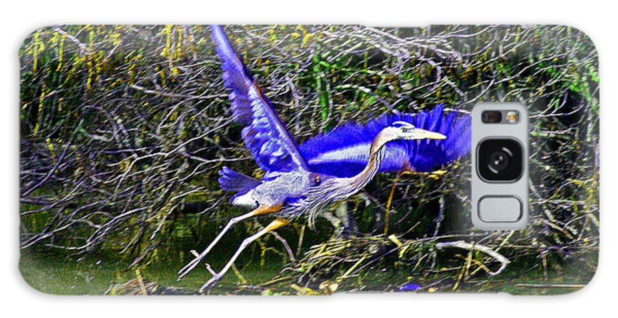 Great Blue Heron Galaxy S8 Case featuring the photograph Gr8 Heron Flight by Joseph Coulombe