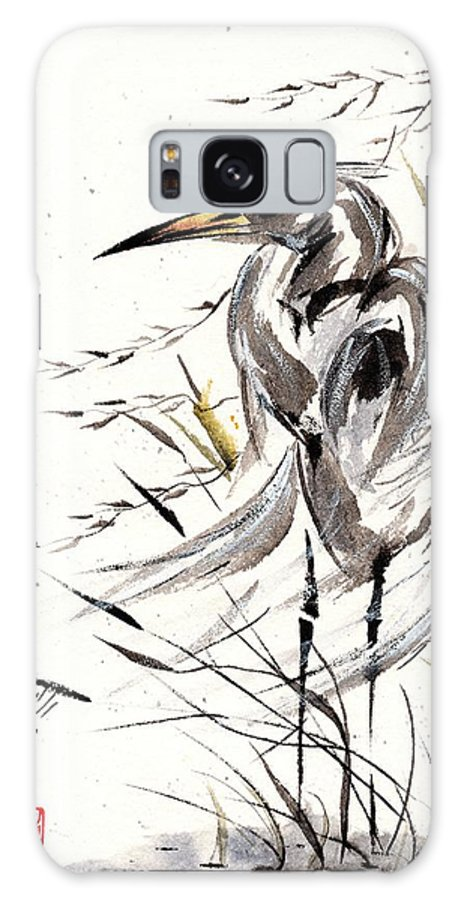 Chinese Brush Painting Galaxy S8 Case featuring the painting Grace Of Solitude by Bill Searle