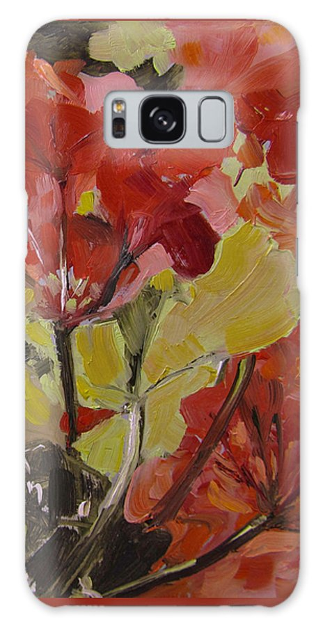 Flowers Galaxy S8 Case featuring the painting Graceful Geraniums by Barbara Andolsek