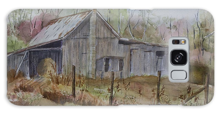 Watercolor Galaxy S8 Case featuring the painting Grady's Barn by Janet Felts