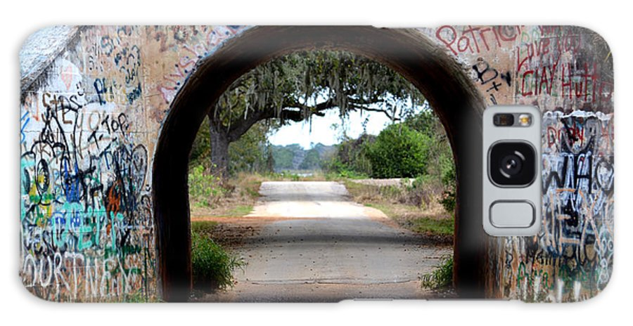 Road Galaxy S8 Case featuring the photograph Graffiti Tunnel by GK Hebert Photography