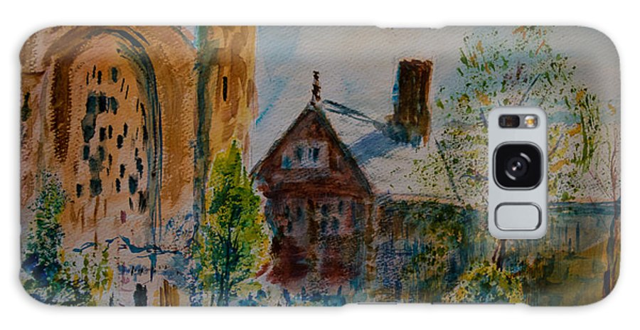 Watercolor Galaxy Case featuring the painting Graham Chapel Morning Effect by Horacio Prada