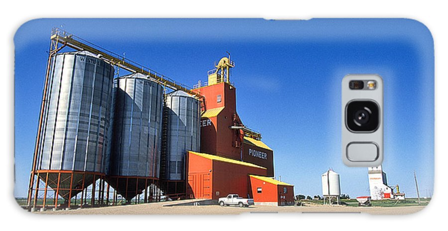 Grain Galaxy S8 Case featuring the photograph Grain Silos Saskatchewan by Buddy Mays