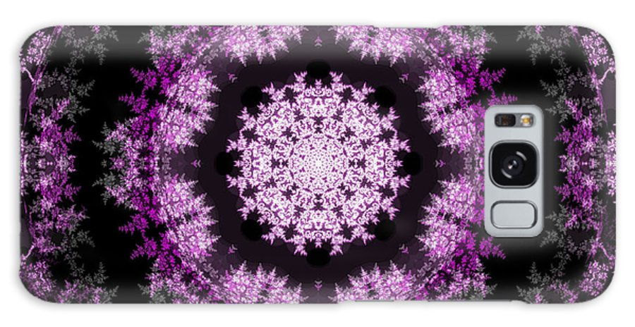 Fractal Art Galaxy S8 Case featuring the digital art Grammy's Psychedelic Doily by Elizabeth McTaggart