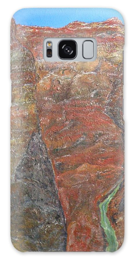 Arizona Galaxy S8 Case featuring the painting Grand Canyon by Ed Ciolina