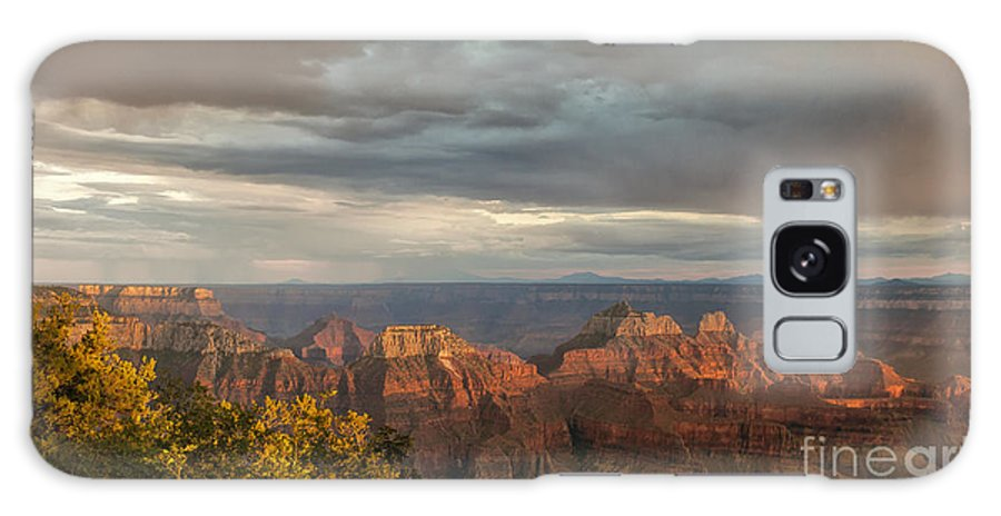 Southwest Galaxy S8 Case featuring the photograph Grand Canyon North Rim Sunset by Sandra Bronstein