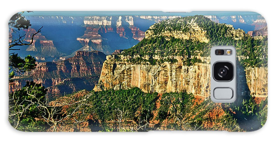 Abyss Galaxy S8 Case featuring the photograph Grand Canyon Peak Angel Point by Bob and Nadine Johnston
