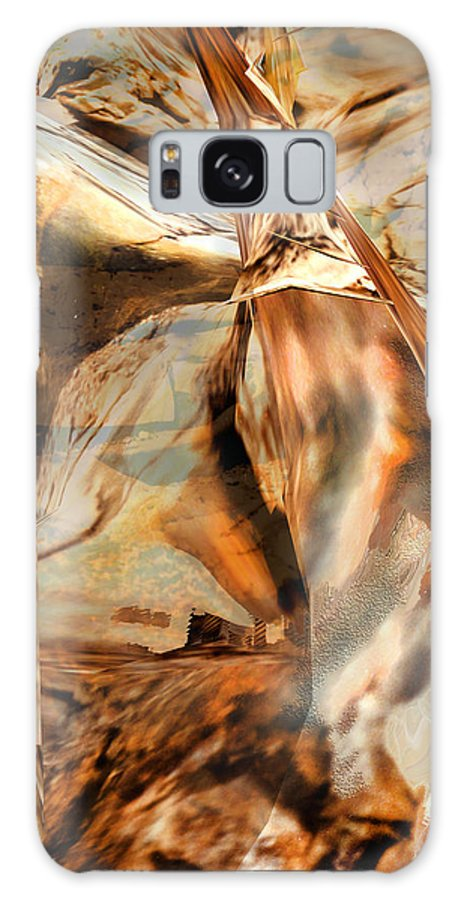 Abstract Digital Art Grand Canyon Stylized Non Representational Image Non Objective Dynamic Copper Orange Sienna Warm Colors Beautiful Judy Paleologos Galaxy S8 Case featuring the photograph Grand Canyon Up Close And Personal by Judy Paleologos