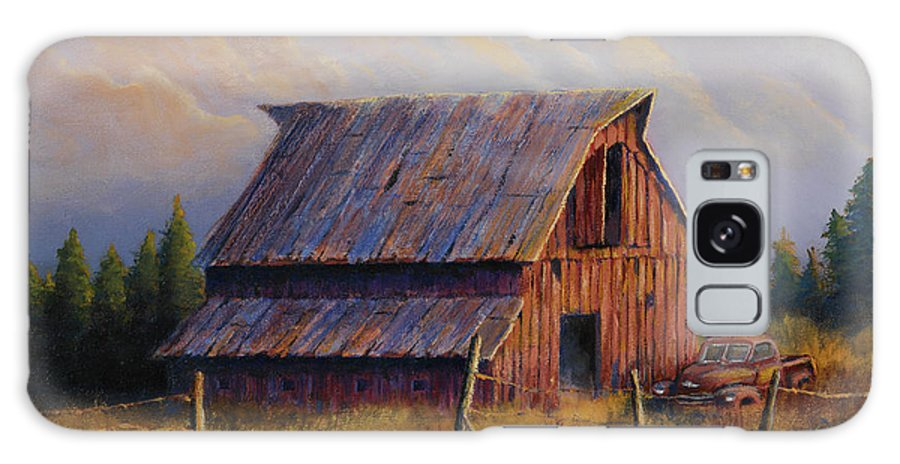Barn Galaxy S8 Case featuring the painting Grandpas Truck by Jerry McElroy