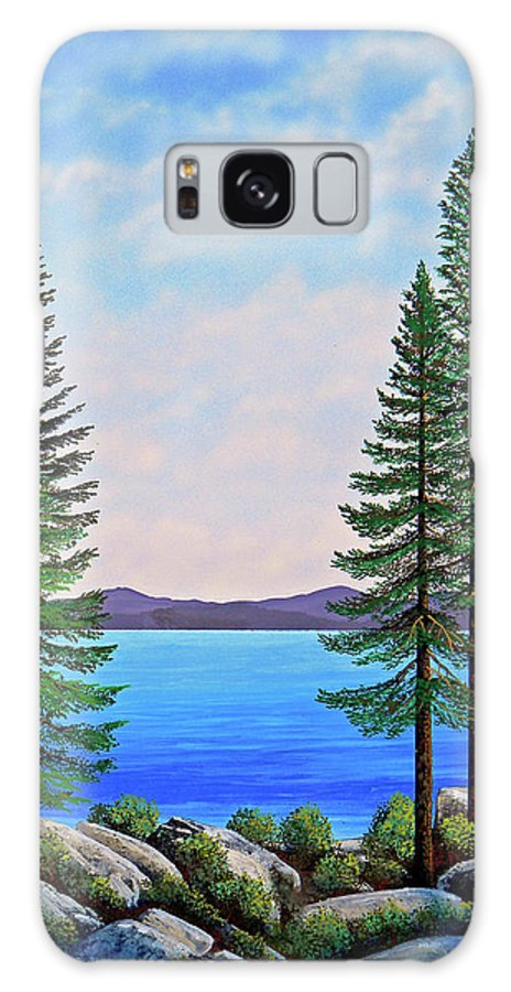 Gouache Galaxy S8 Case featuring the painting Granite Boulders Lake Tahoe by Frank Wilson