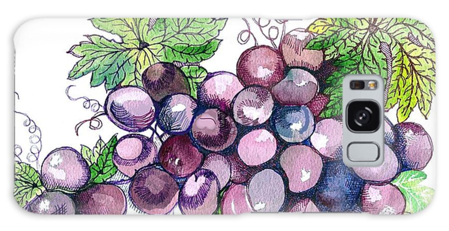 Still Life Galaxy S8 Case featuring the mixed media Grapes by Debralyn Skidmore