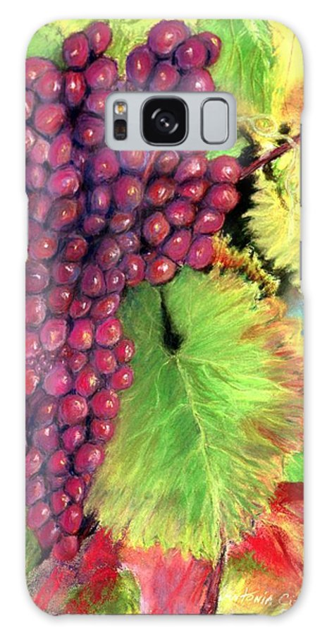 Grapes Galaxy S8 Case featuring the pastel Grapes On Vine Pastel by Antonia Citrino