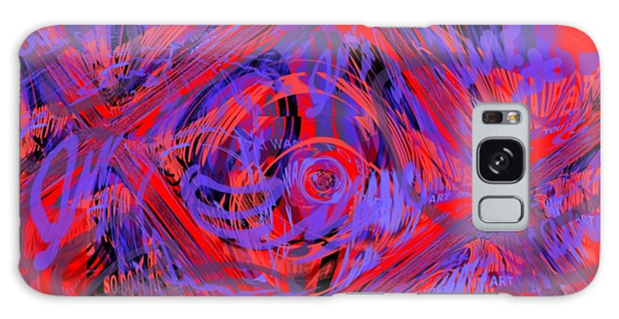 Graphic Art Galaxy Case featuring the digital art Graphic Explosion by Pharris Art