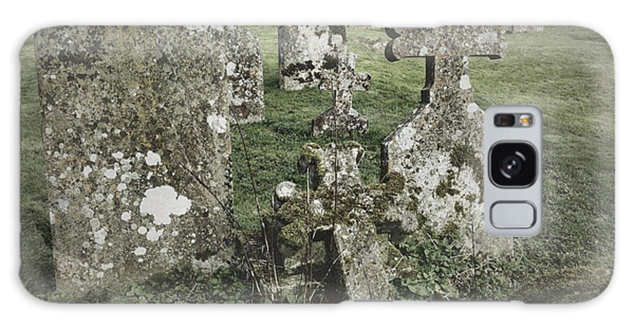 Grave Galaxy S8 Case featuring the photograph Graveyard Monuments And Gravestones by John Colley