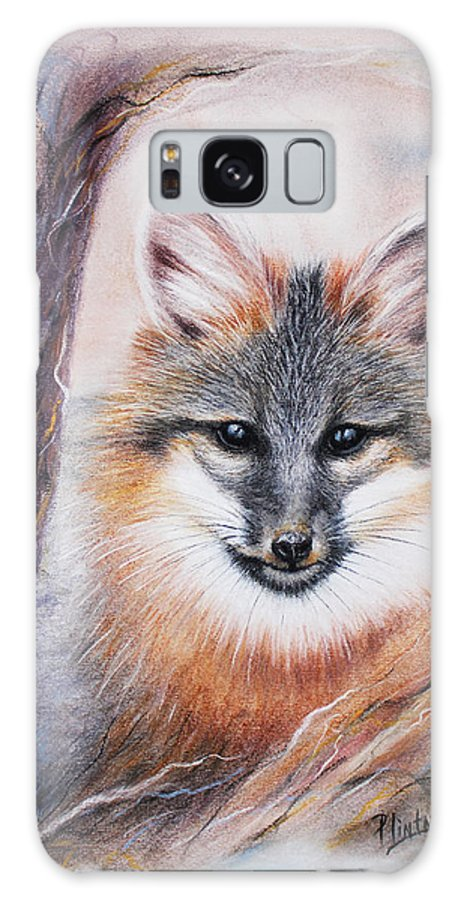 Gray Fox Galaxy S8 Case featuring the drawing Gray Fox by Patricia Lintner