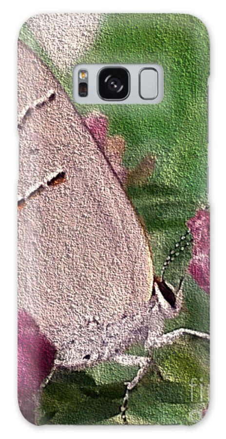 Insect Galaxy S8 Case featuring the photograph Gray Hairstreak Butterfly by Donna Brown