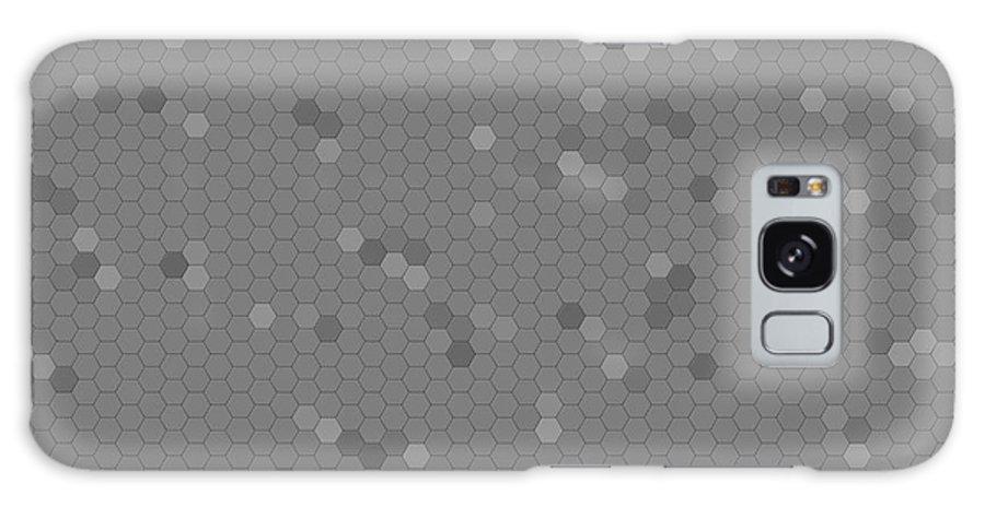 Mosaic Galaxy S8 Case featuring the digital art Gray Mosaic by Henrik Lehnerer