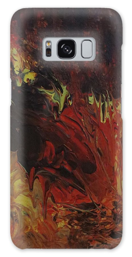 Abstract Galaxy S8 Case featuring the painting Great Ball Of Fire by Soraya Silvestri