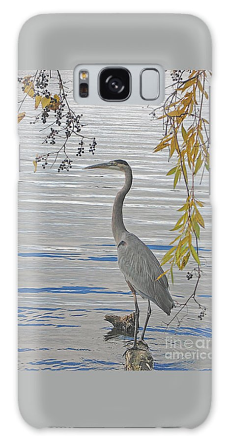 Heron Galaxy S8 Case featuring the photograph Great Blue Heron by Ann Horn