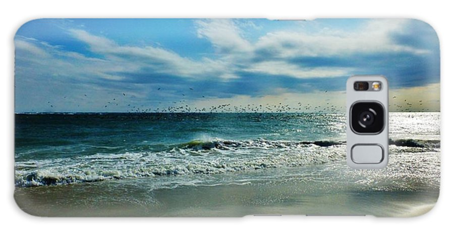 Seascape Galaxy S8 Case featuring the photograph Great Flocks Of Birds by Holly Dwyer