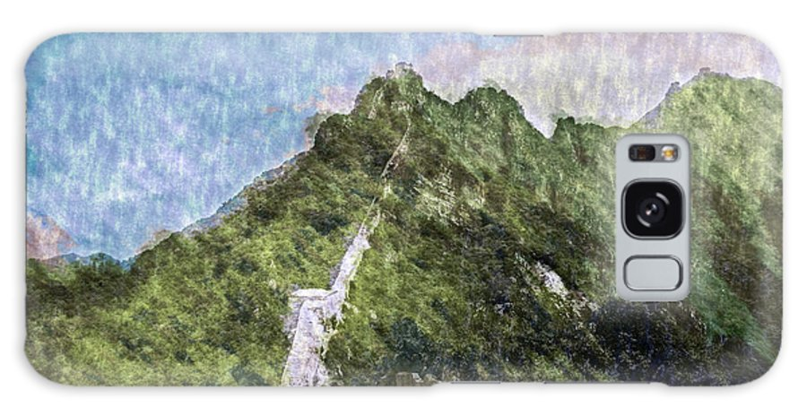 Asia Galaxy S8 Case featuring the digital art Great Wall 0033 - Watercolor 2 Sl by David Lange