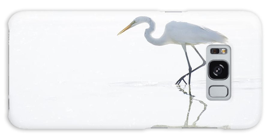 Great Egret Galaxy S8 Case featuring the photograph Great White Egret Reflection by Saija Lehtonen