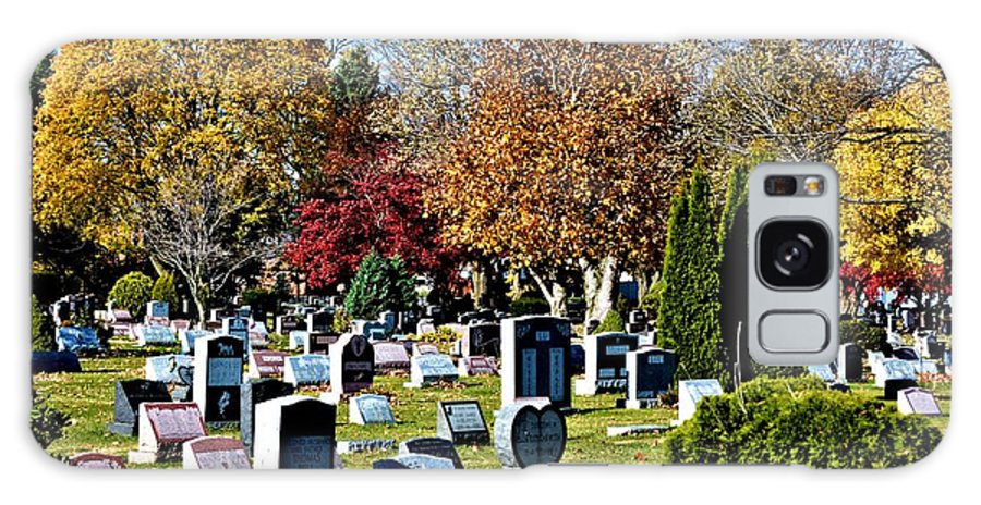 Scenic Galaxy S8 Case featuring the photograph Greece Fall Cemetery by Richard Jenkins