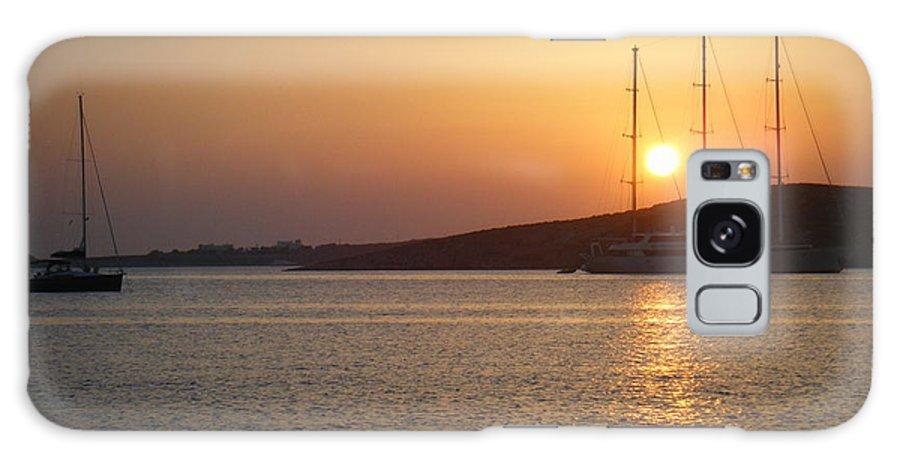 Greece Galaxy S8 Case featuring the photograph Greek Island Sunset by David McCadden