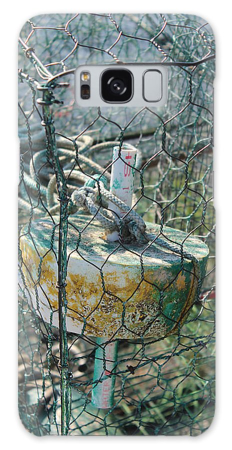 Green Galaxy S8 Case featuring the photograph Green Crabbing Basket by Renee Braun