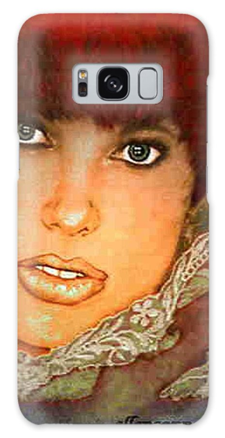 Portrait Galaxy S8 Case featuring the photograph Green Eyed Redhead IIi by Ellen Cannon
