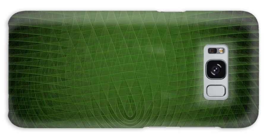 Green Galaxy S8 Case featuring the painting Green Fractal Background by Bruce Nutting