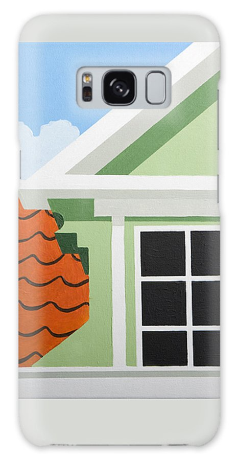 Painting Galaxy S8 Case featuring the painting Green House by Trudie Canwood