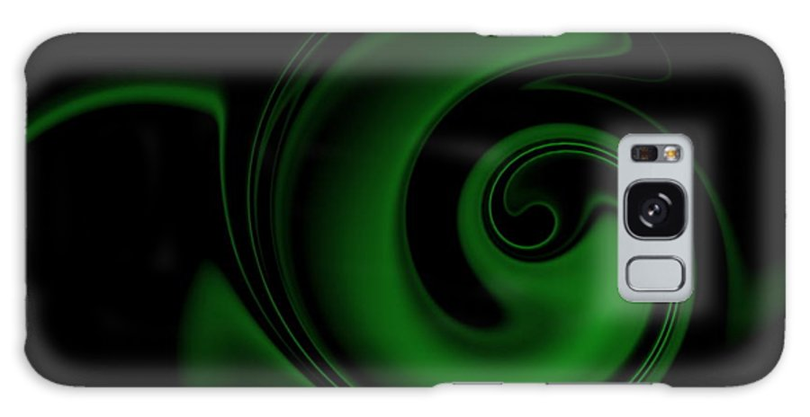 Swirl Galaxy S8 Case featuring the digital art Green On Black 1 by Ron Hedges