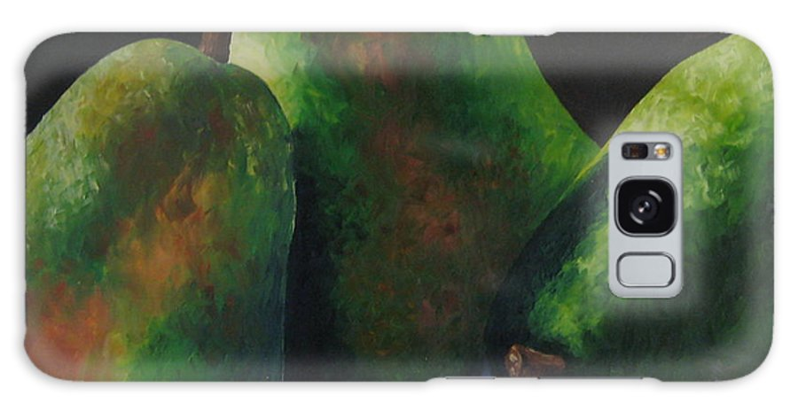 Pears Galaxy S8 Case featuring the painting Green Pears With Shadows Cast by Darla Brock
