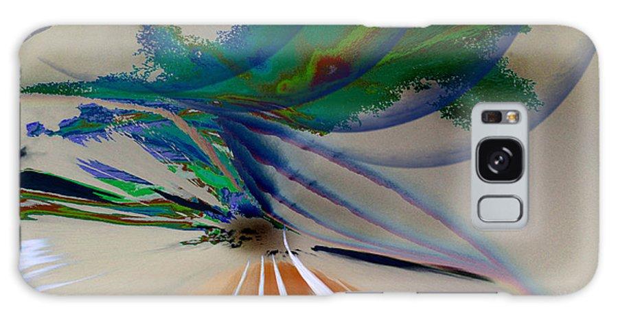 Augusta Stylianou Galaxy S8 Case featuring the digital art Green Planets by Augusta Stylianou