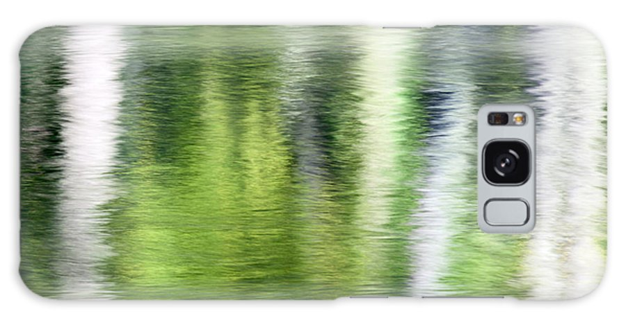 Abstract Galaxy S8 Case featuring the photograph Green River Reflections by Mark Sunderland