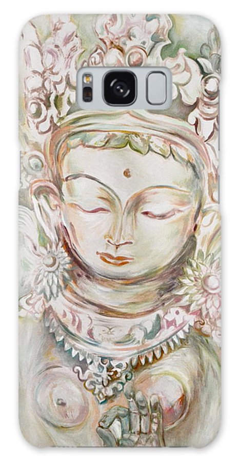 Godess Galaxy S8 Case featuring the painting Green Tara by Valeria Navarrete