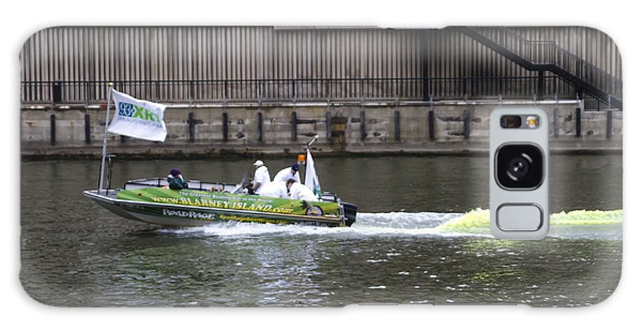 Chicago River Galaxy S8 Case featuring the photograph Greening The Chicago River For St Patrick's Day by Sven Brogren